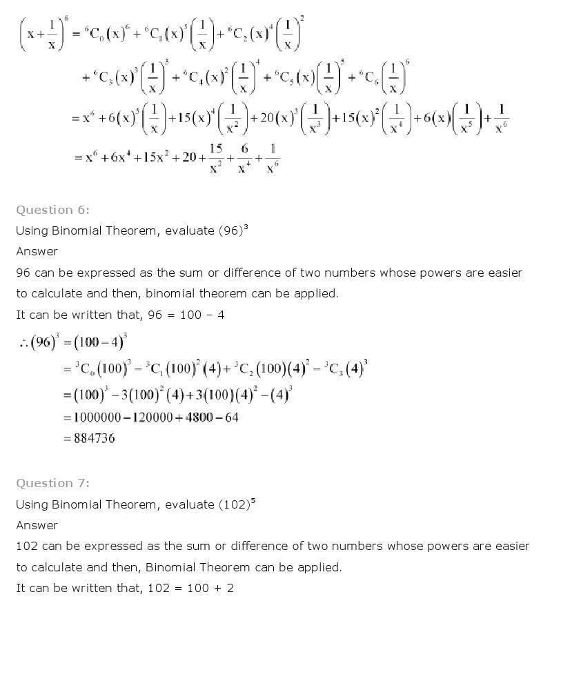 11th, Maths, Binomial Theorem 3