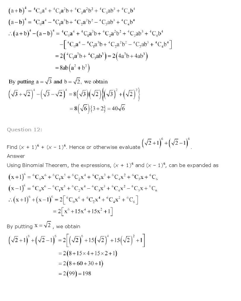 11th, Maths, Binomial Theorem 6