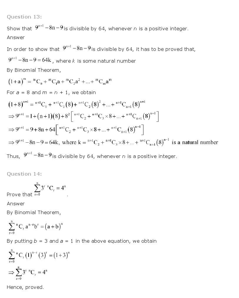 11th, Maths, Binomial Theorem 7