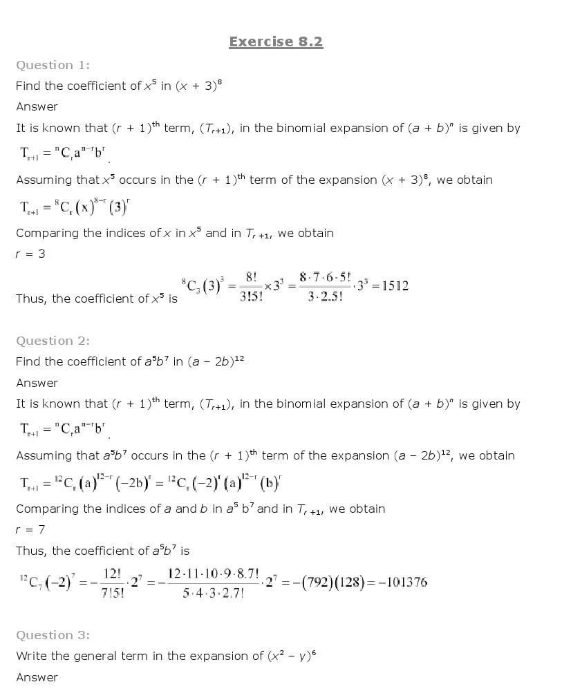 11th, Maths, Binomial Theorem 8
