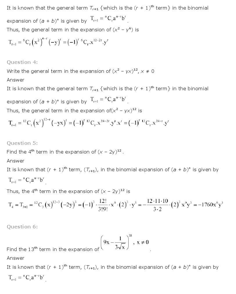 worksheet Binomial Theorem Worksheet Pdf binomial theorem class 11 mathematics ncert solutions 11th maths 9
