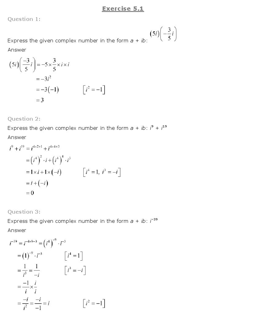 11th, Maths, Complex Numbers & Quadratic Equations 1
