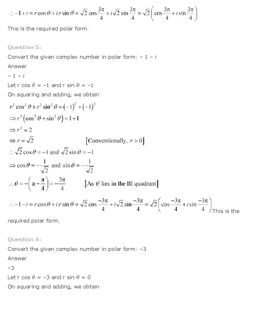 11th, Maths, Complex Numbers & Quadratic Equations 10