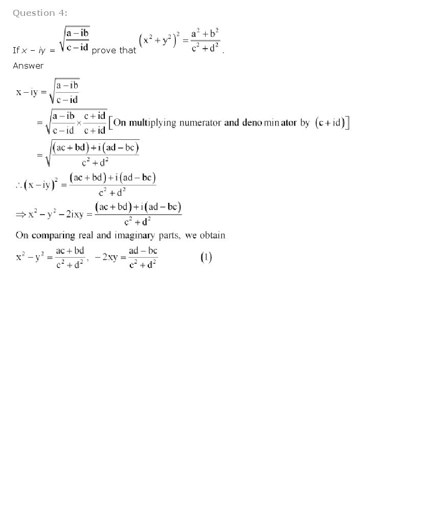11th, Maths, Complex Numbers & Quadratic Equations 21