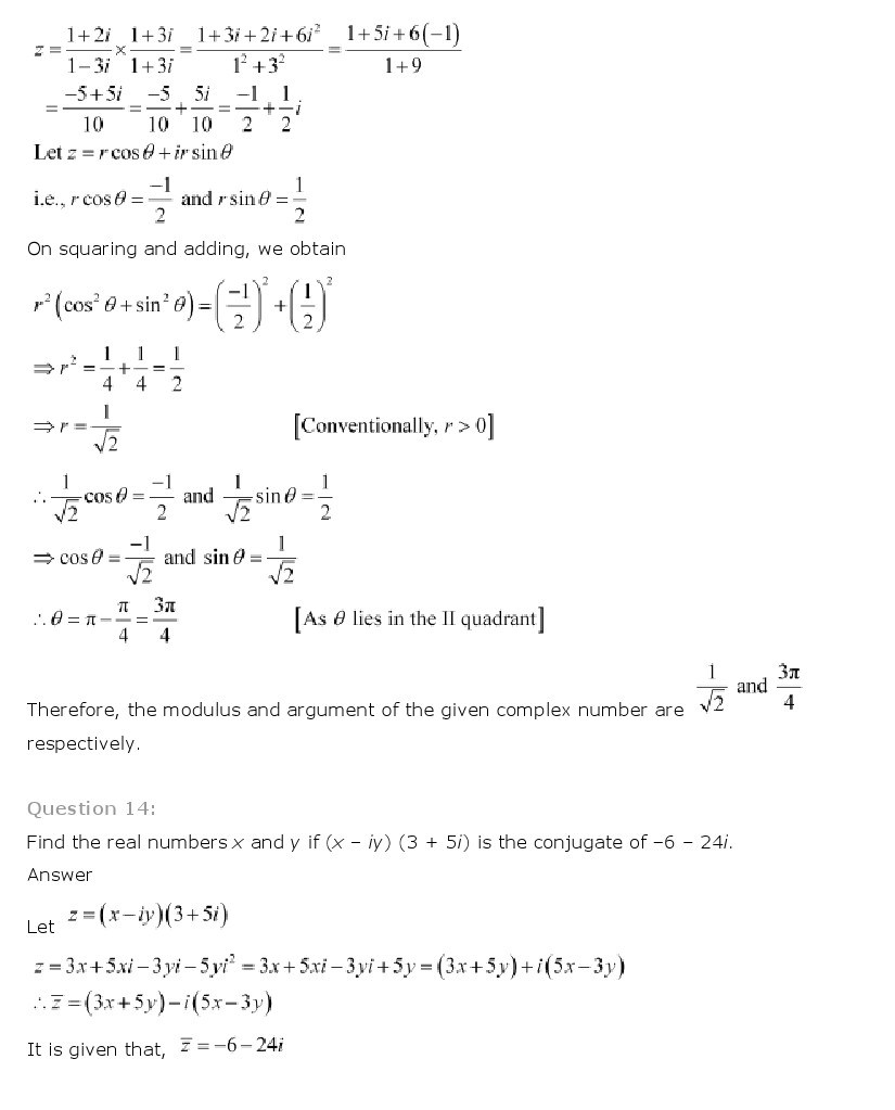 11th, Maths, Complex Numbers & Quadratic Equations 29