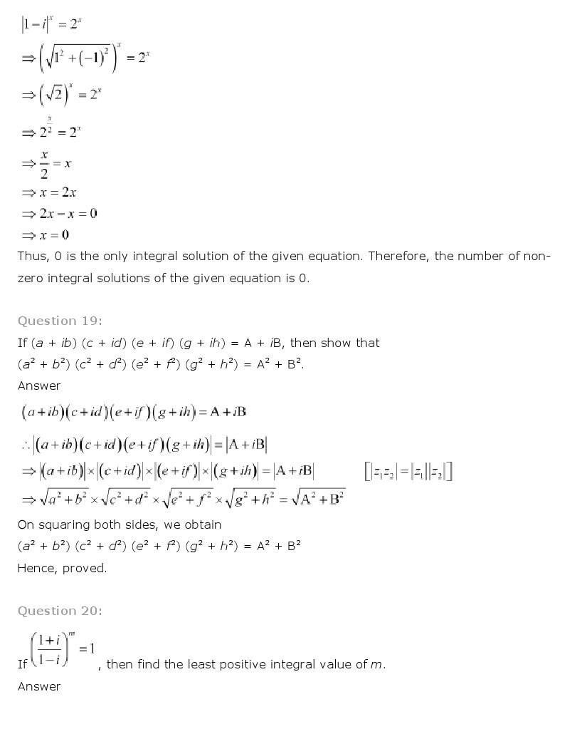 11th, Maths, Complex Numbers & Quadratic Equations 33