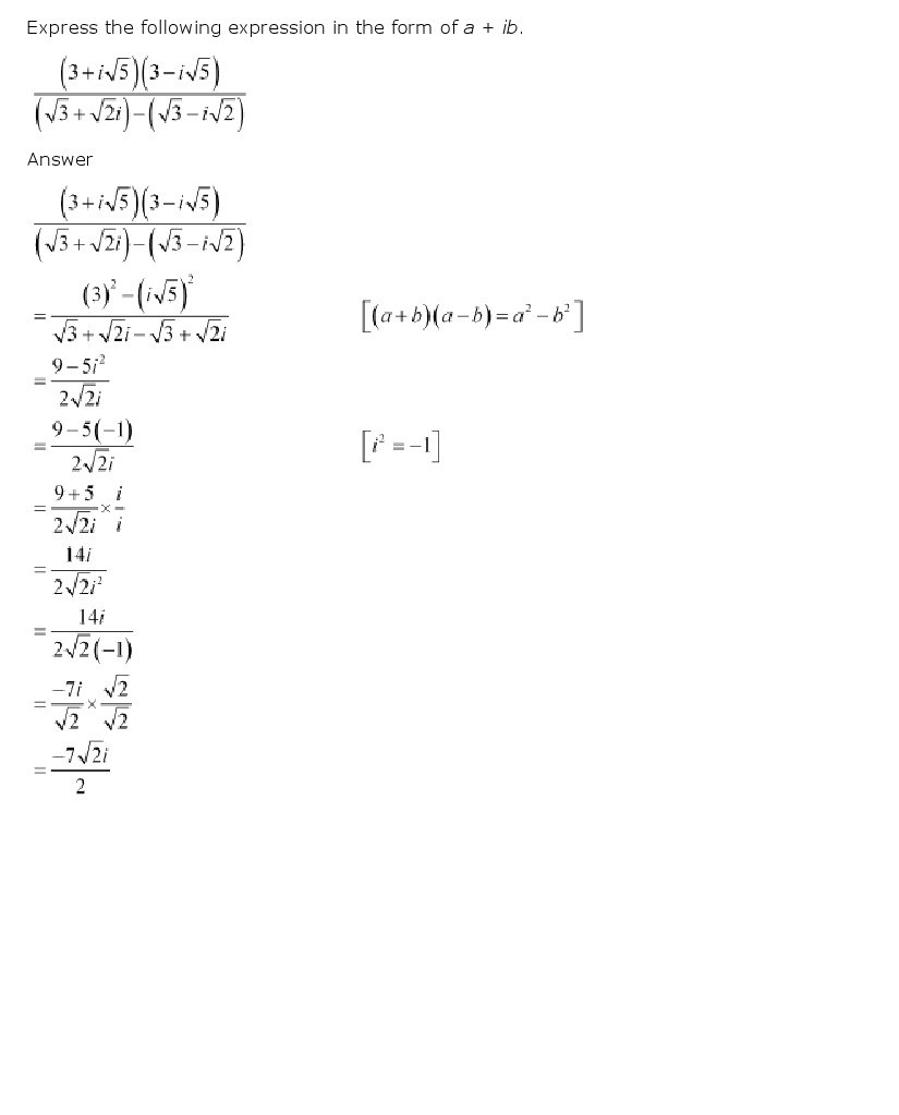 11th, Maths, Complex Numbers & Quadratic Equations 6