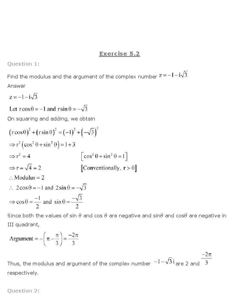 11th, Maths, Complex Numbers & Quadratic Equations 7
