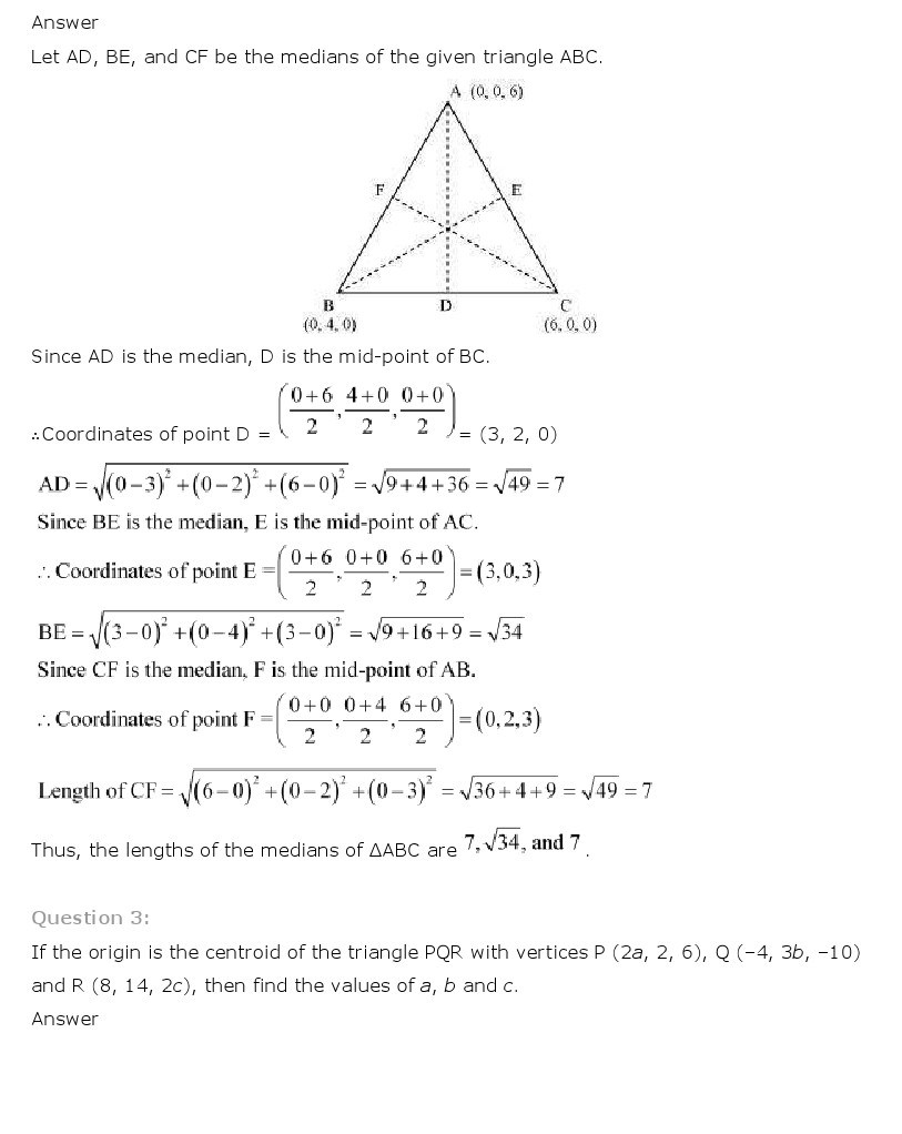 11th, Maths, Introduction to 3 Dimensional Geometry 14
