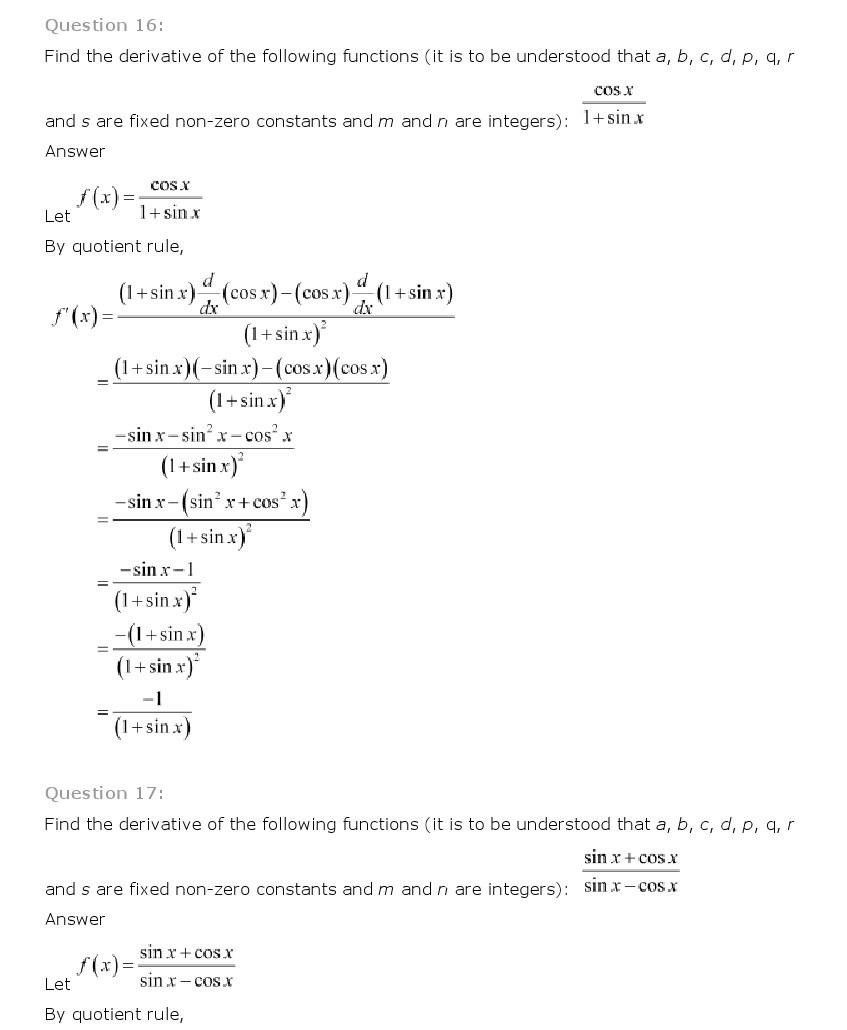 11th, Maths, Limits & Derivatives 54