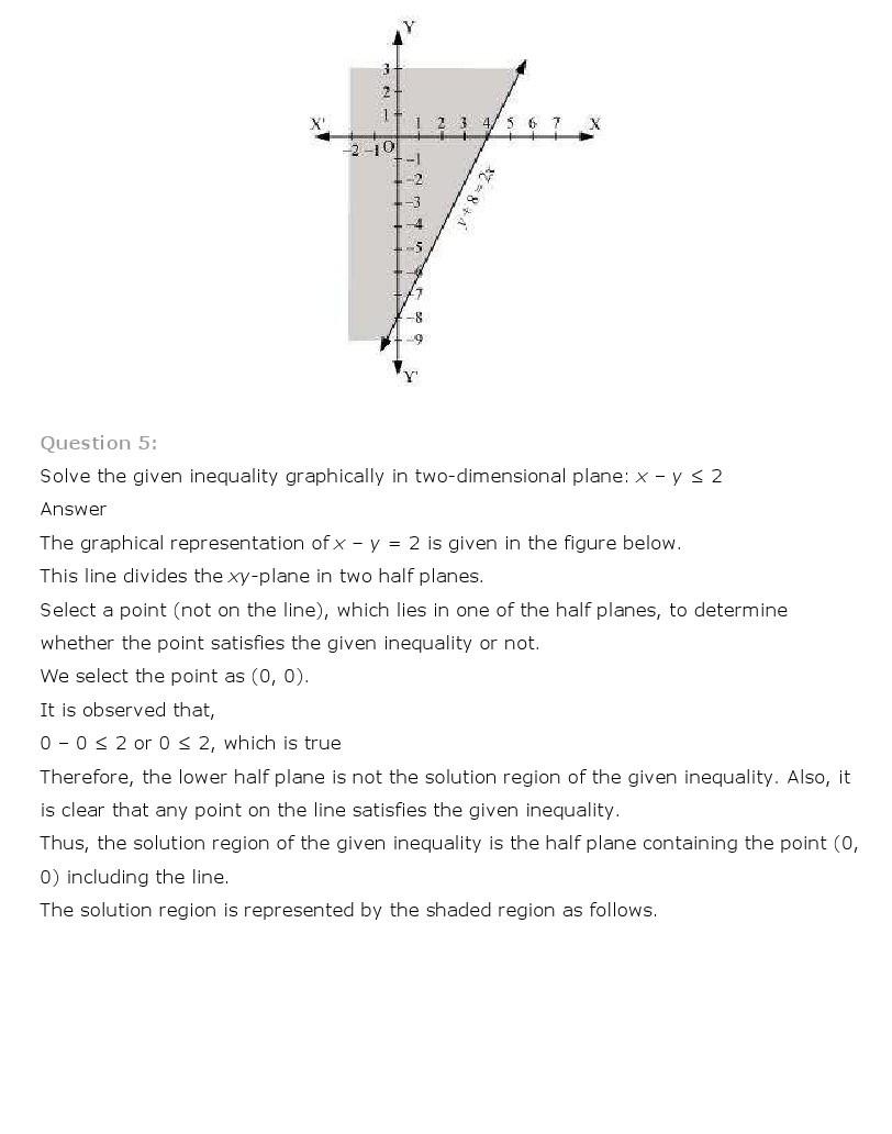 linear inequalities class 11 ncert pdf