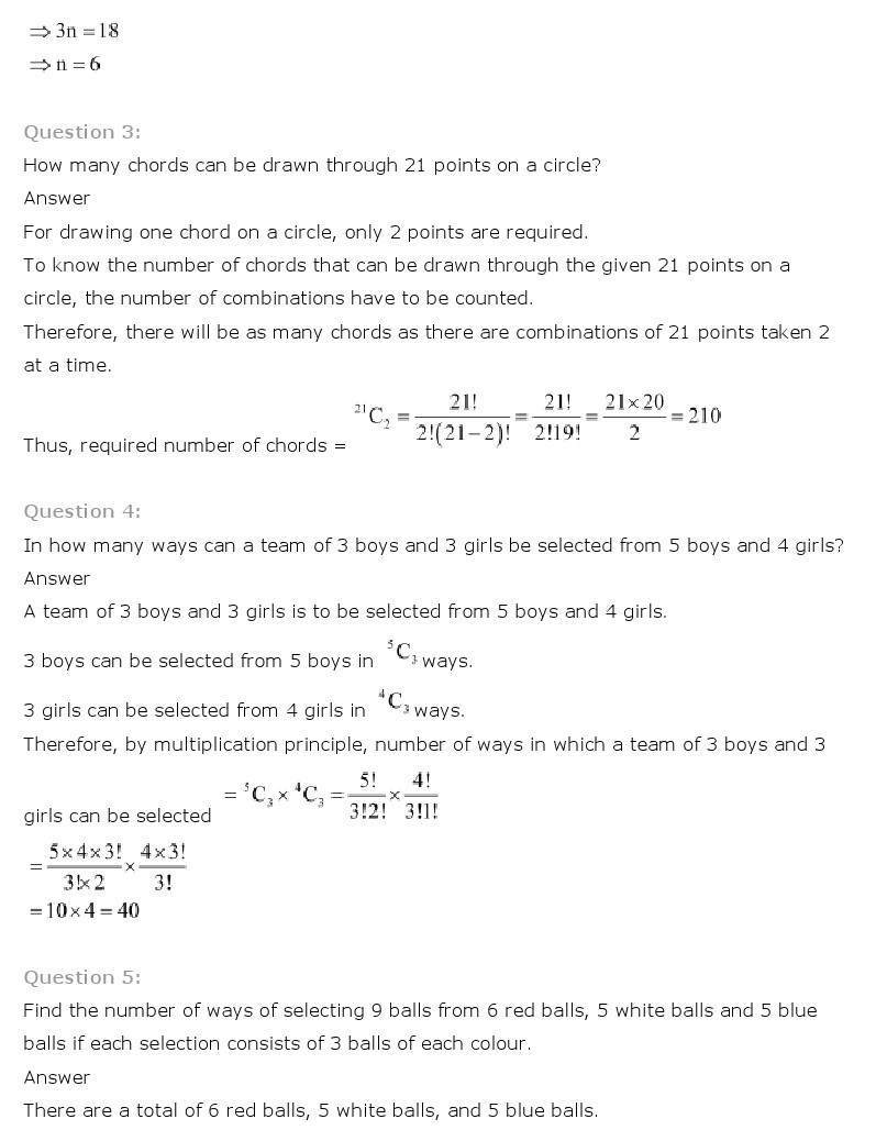 11th, Maths, Permutations & Combinations 17