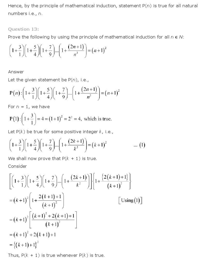Principle Of Mathematical Induction, Class 11 Mathematics ...