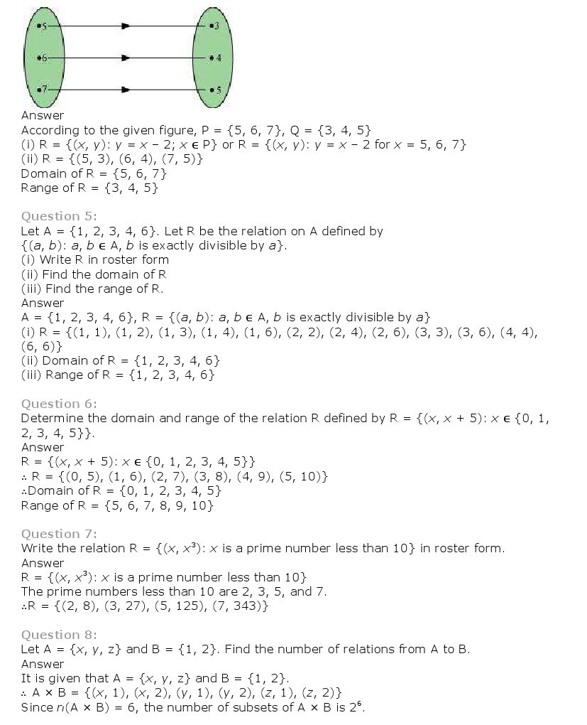 11th, Maths, Relations & Functions 5