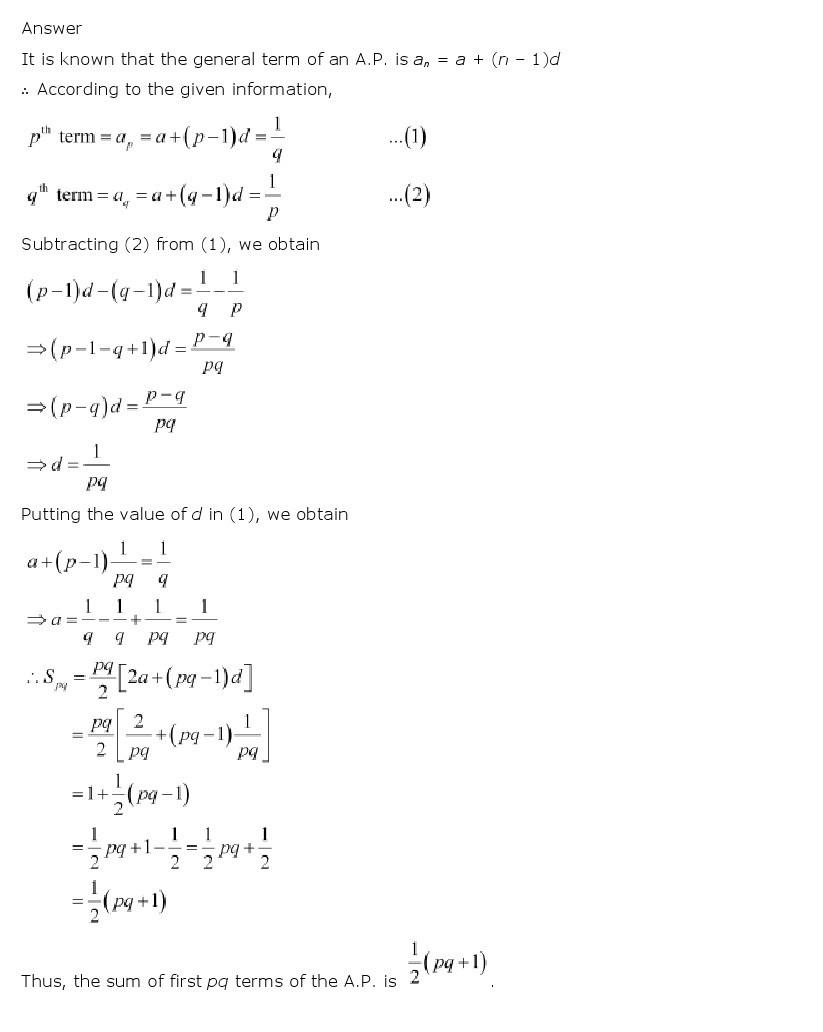 11th, Maths, Sequences & Series 10