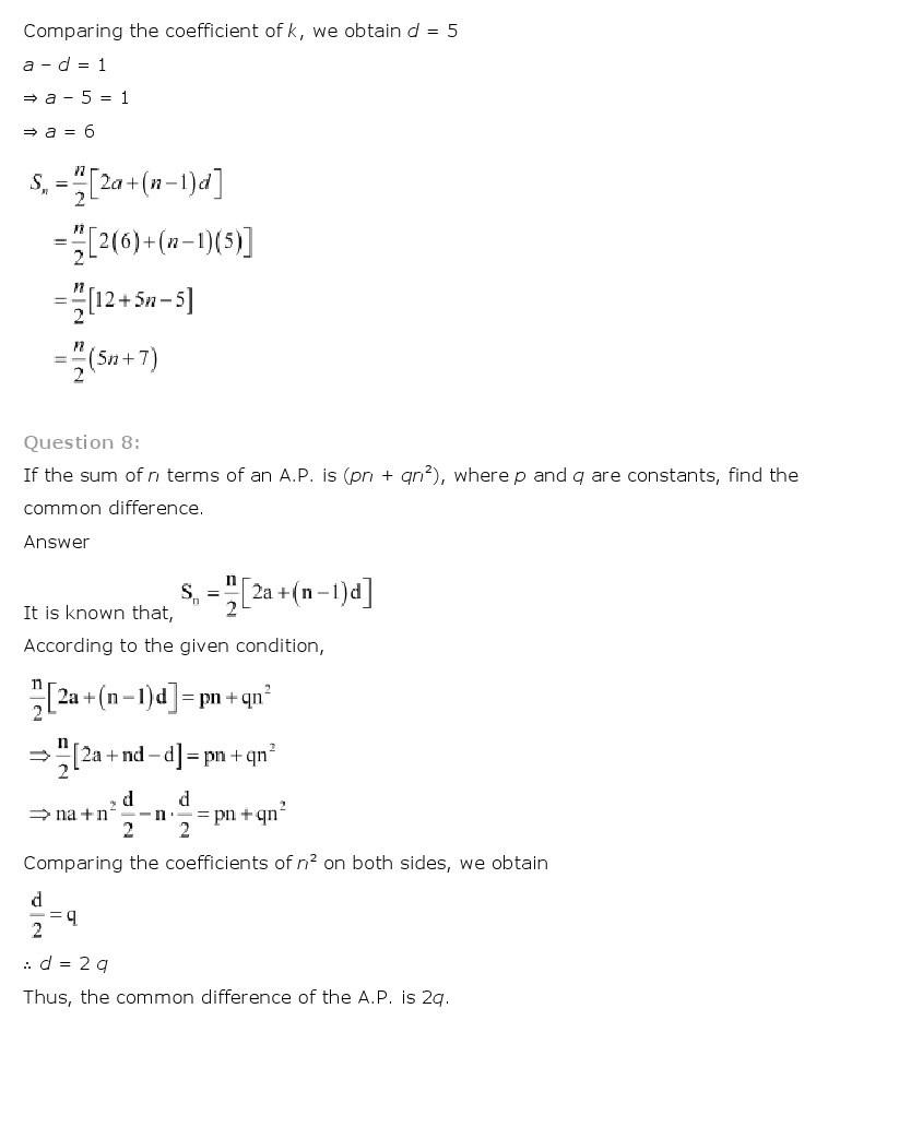 11th, Maths, Sequences & Series 12