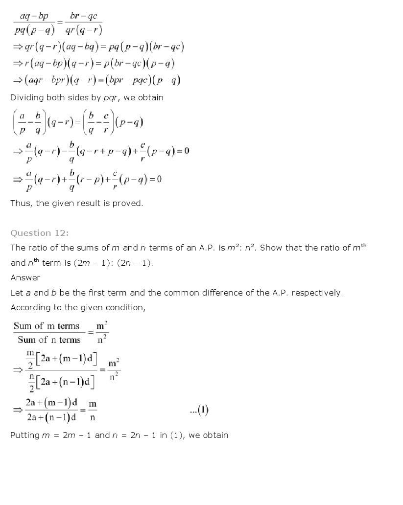 11th, Maths, Sequences & Series 16