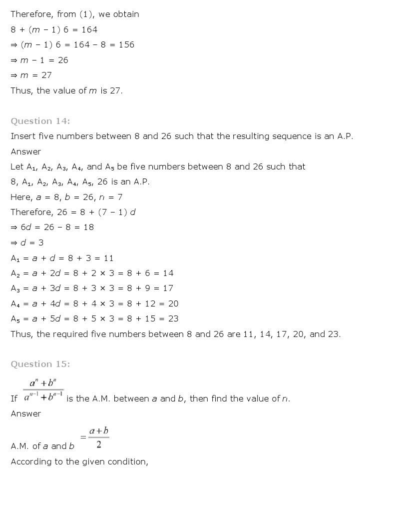 11th, Maths, Sequences & Series 18