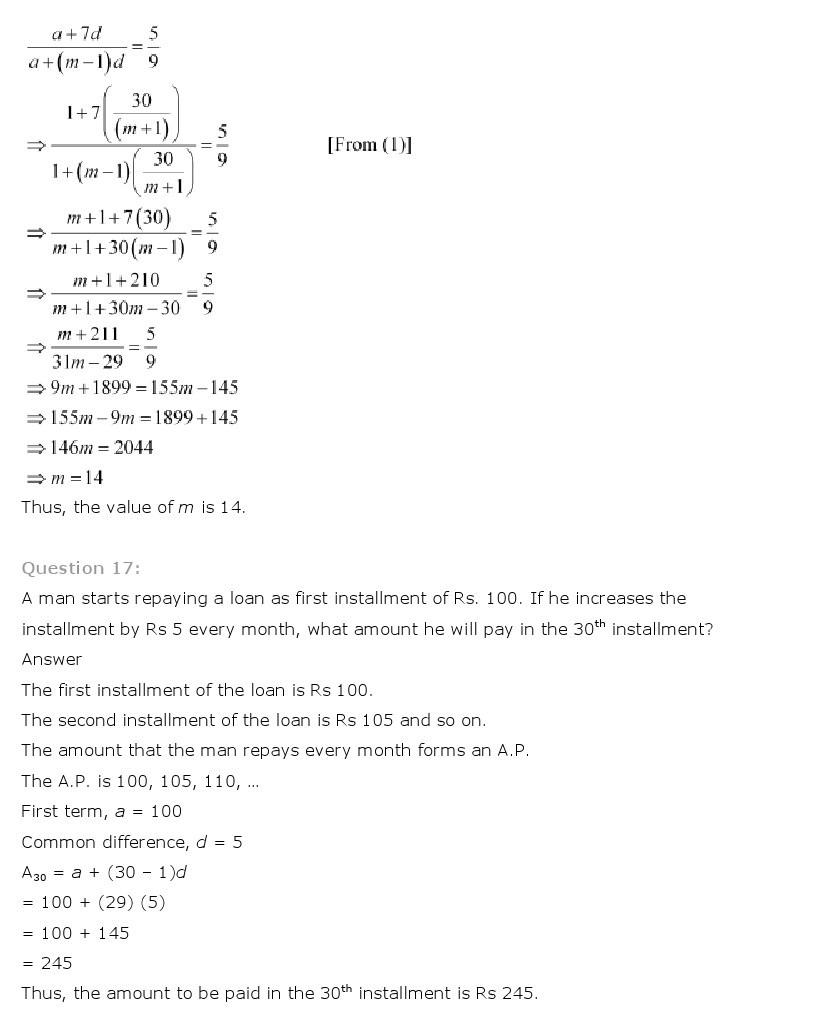 11th, Maths, Sequences & Series 20