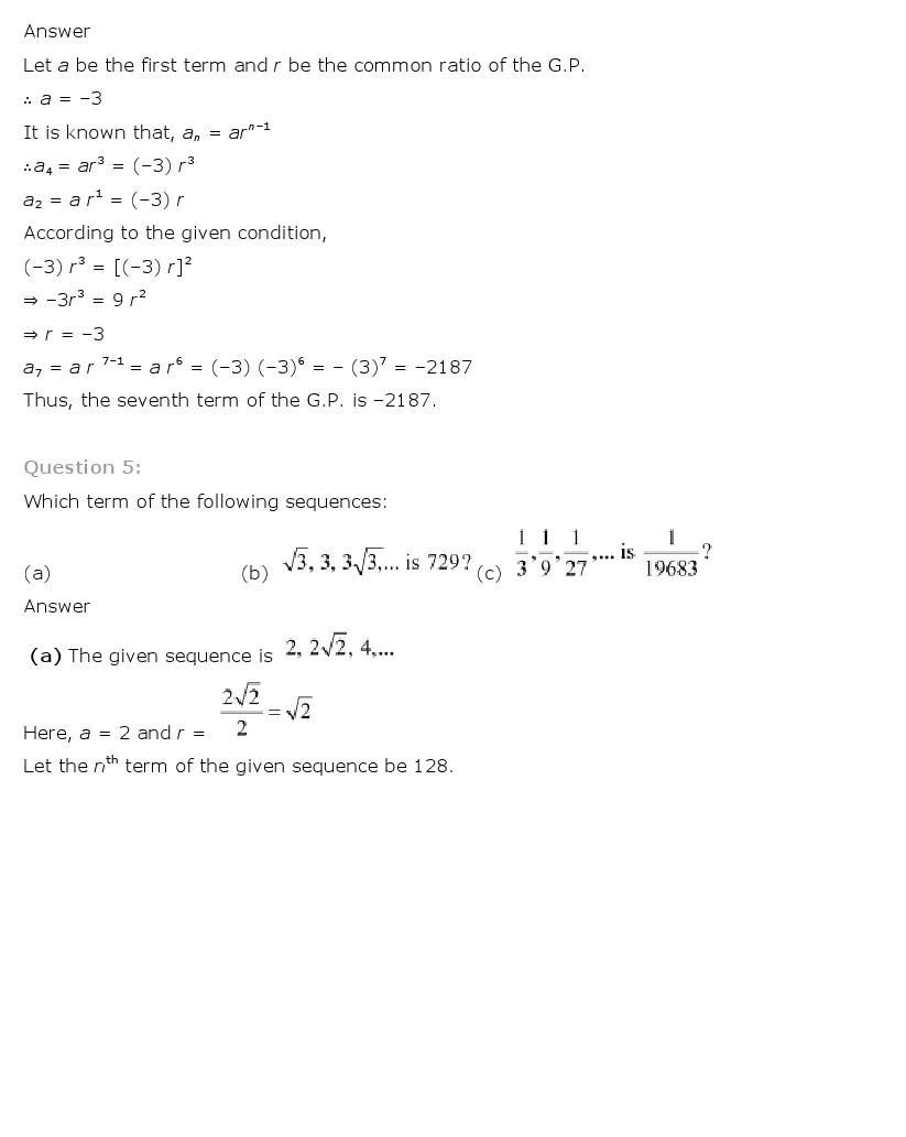 11th, Maths, Sequences & Series 24