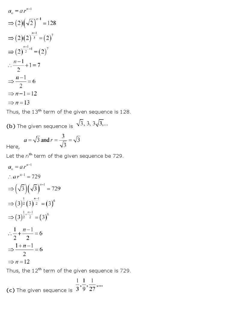 11th, Maths, Sequences & Series 25