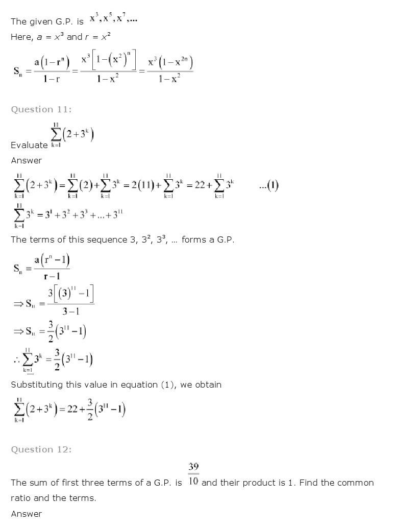 11th, Maths, Sequences & Series 29