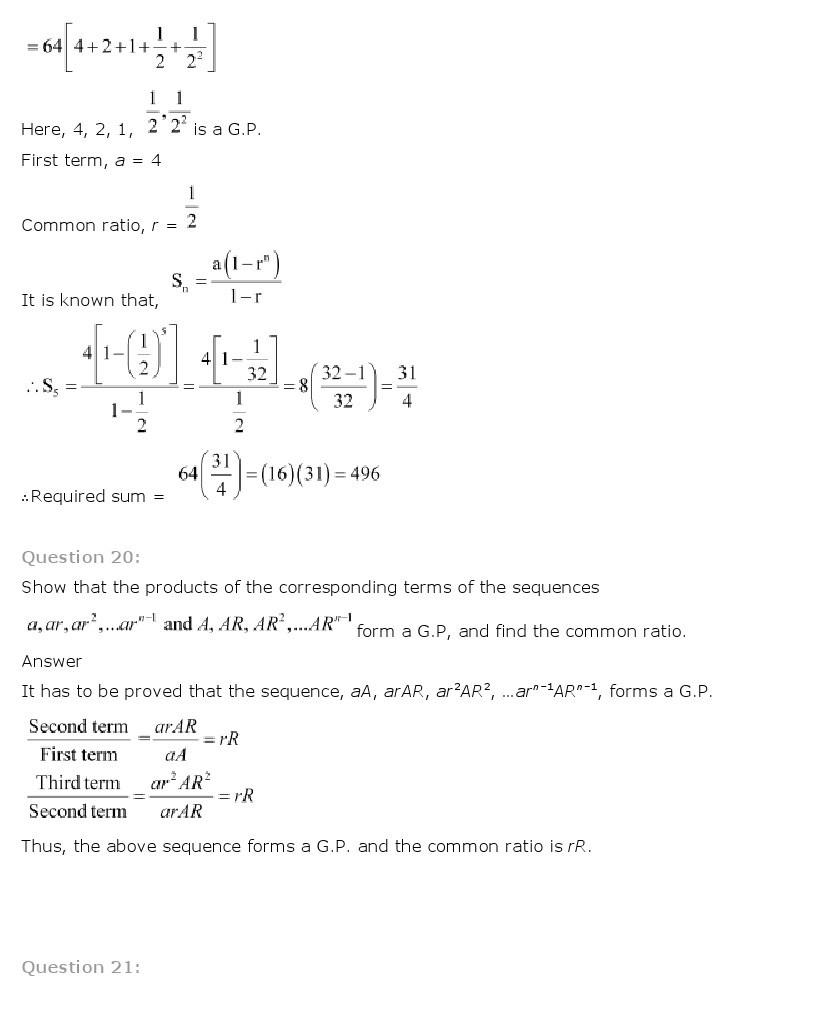 11th, Maths, Sequences & Series 36