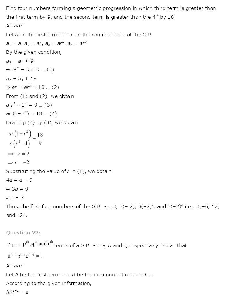 11th, Maths, Sequences & Series 37