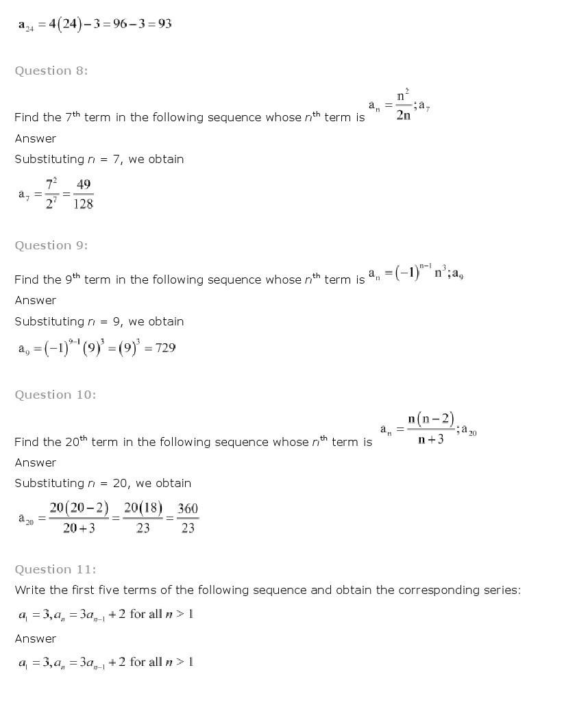11th, Maths, Sequences & Series 4