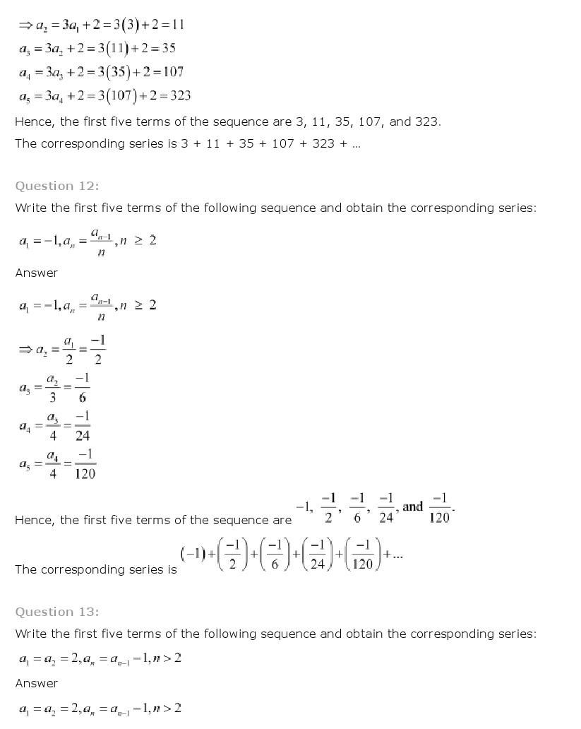 11th, Maths, Sequences & Series 5