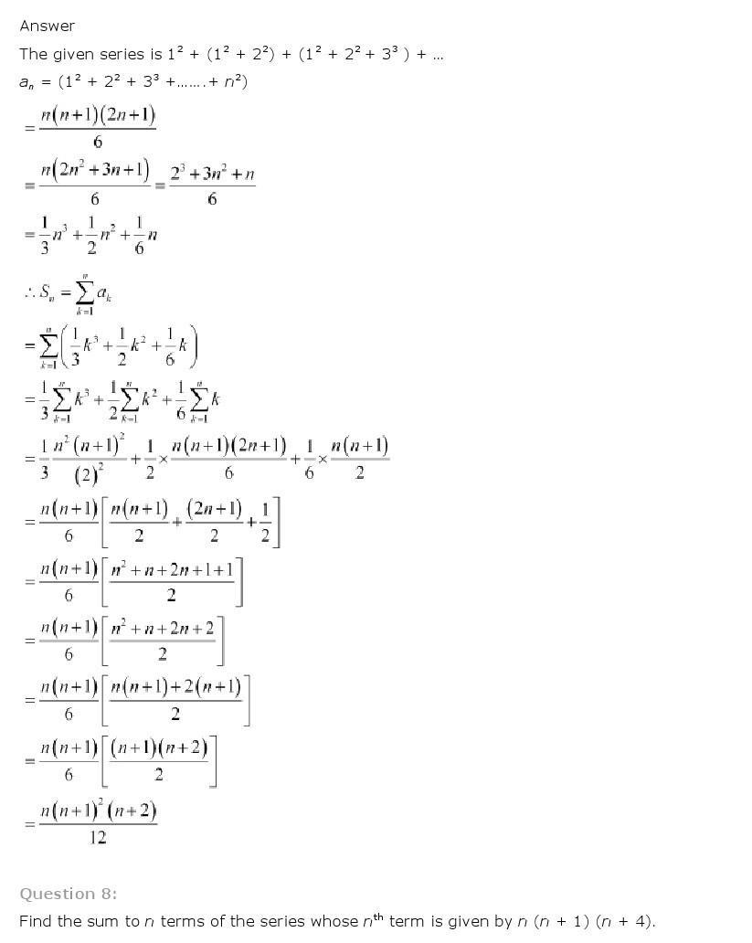 11th, Maths, Sequences & Series 50