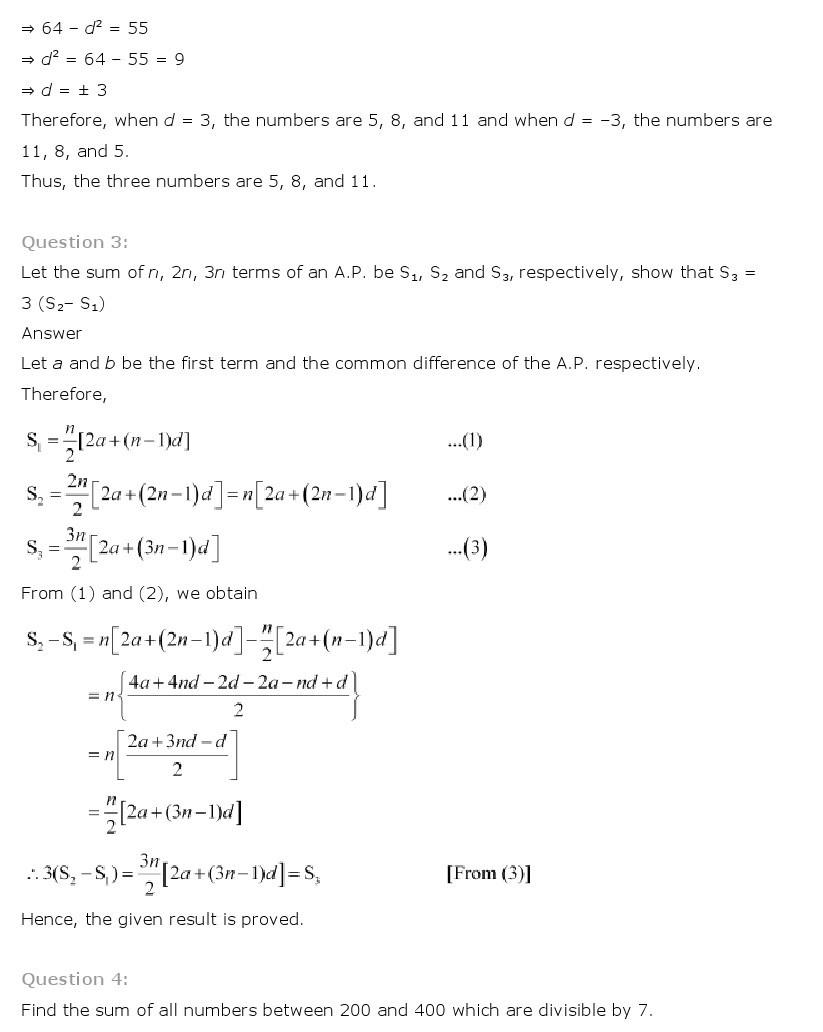 11th, Maths, Sequences & Series 54