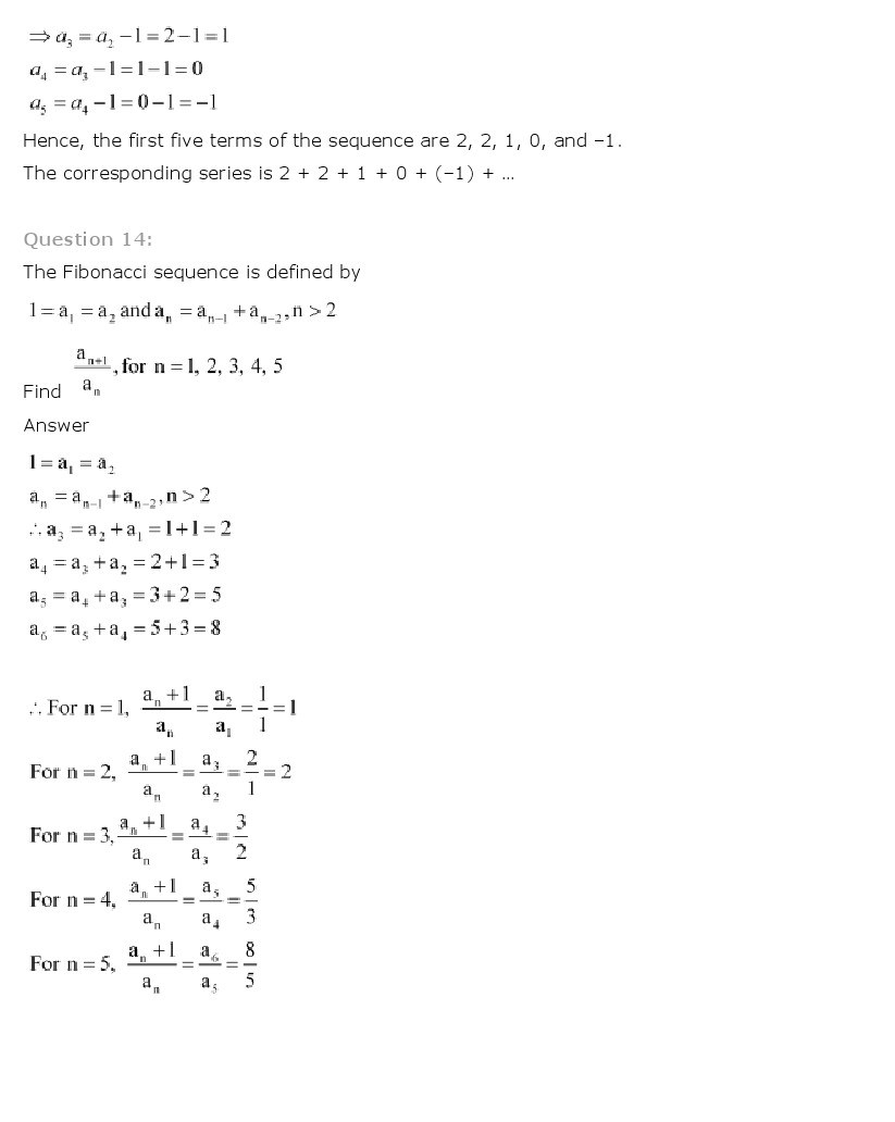 Worksheets Sequences And Series Worksheets sequences and series class 11 mathematics ncert solutions 11th maths 6