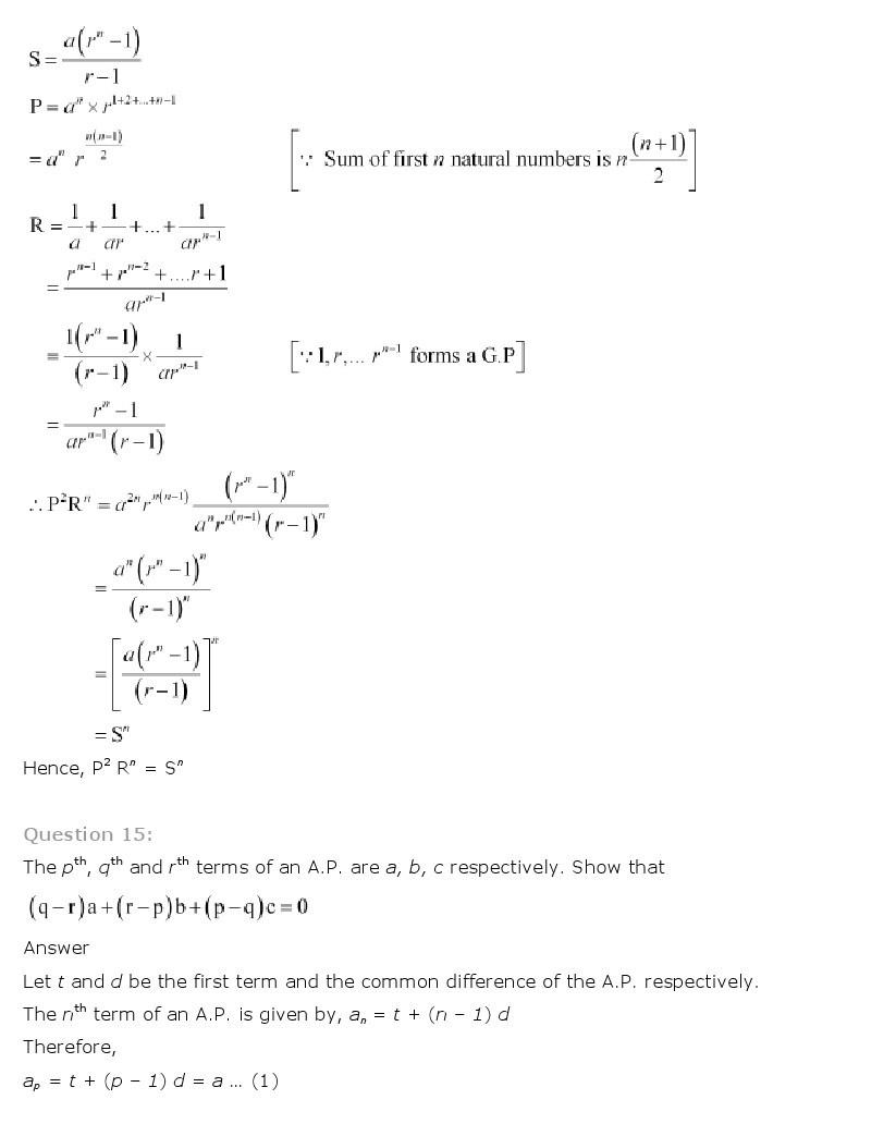 11th, Maths, Sequences & Series 63