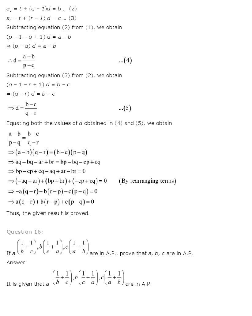 11th, Maths, Sequences & Series 64