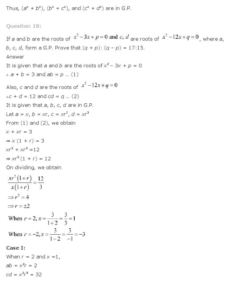 11th, Maths, Sequences & Series 66
