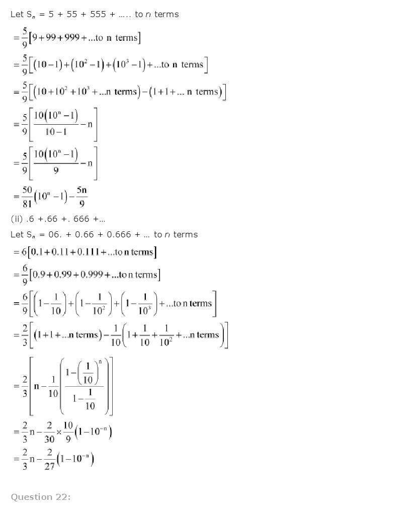 11th, Maths, Sequences & Series 70