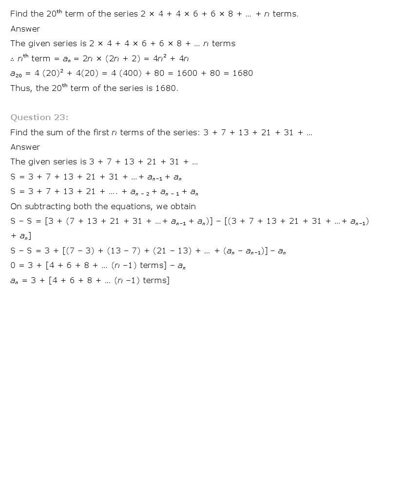 11th, Maths, Sequences & Series 71