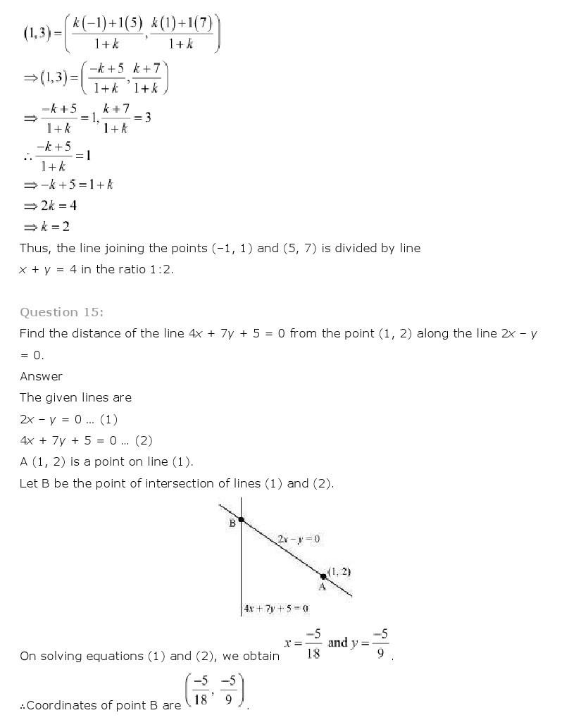 11th, Maths, Straight Lines 57