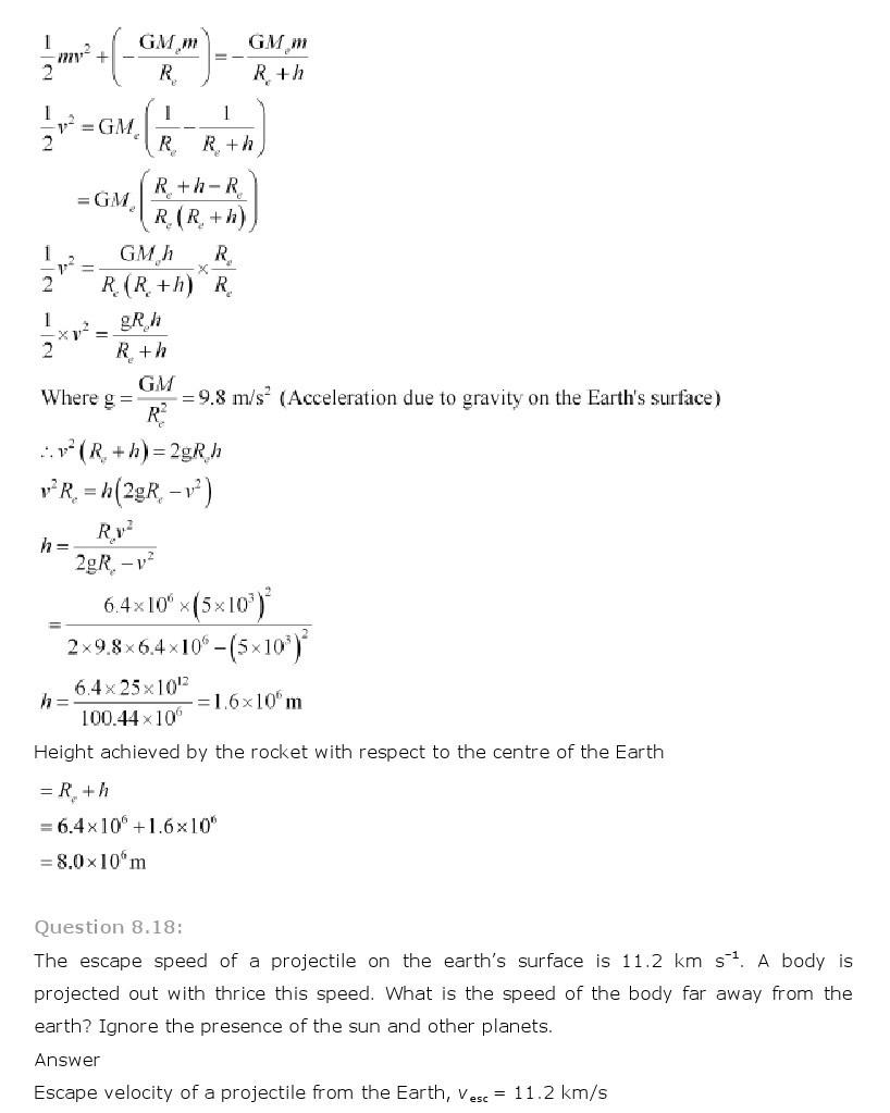 11th, Physics, Gravitation 15