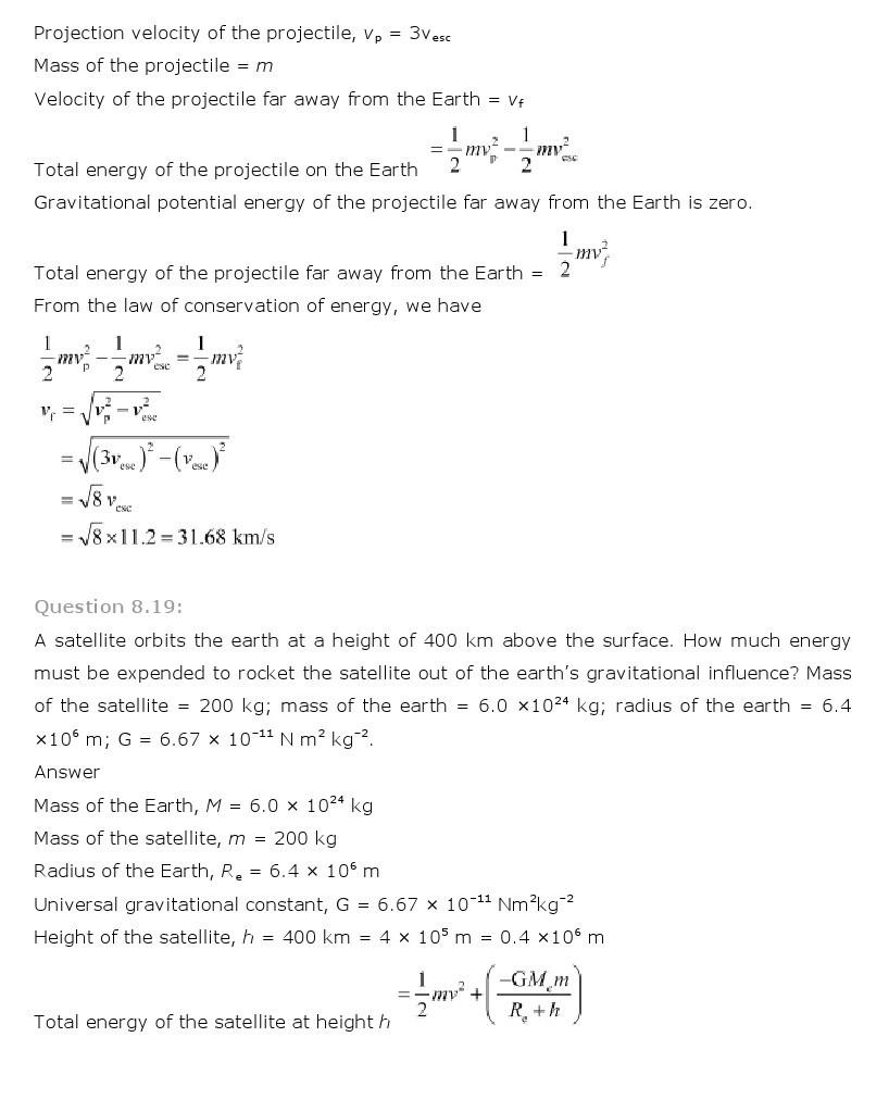11th, Physics, Gravitation 16