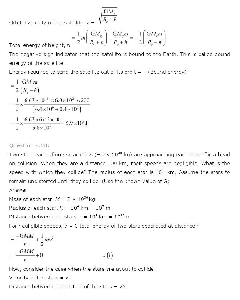 11th, Physics, Gravitation 17