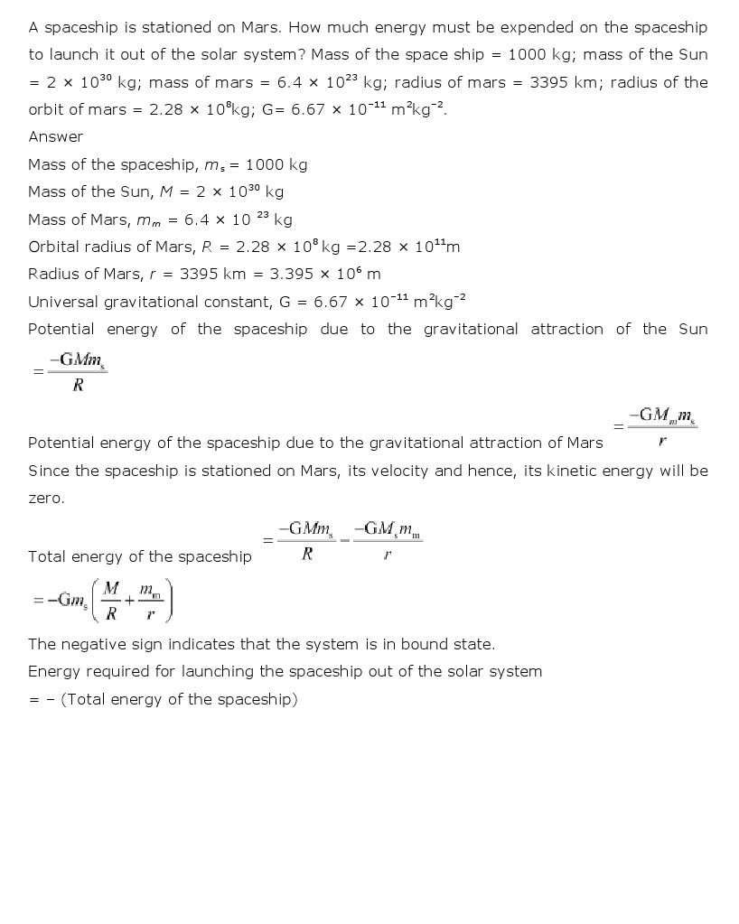 11th, Physics, Gravitation 21