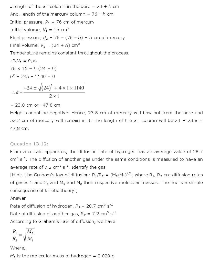 11th, Physics, Kinetic Theory 12