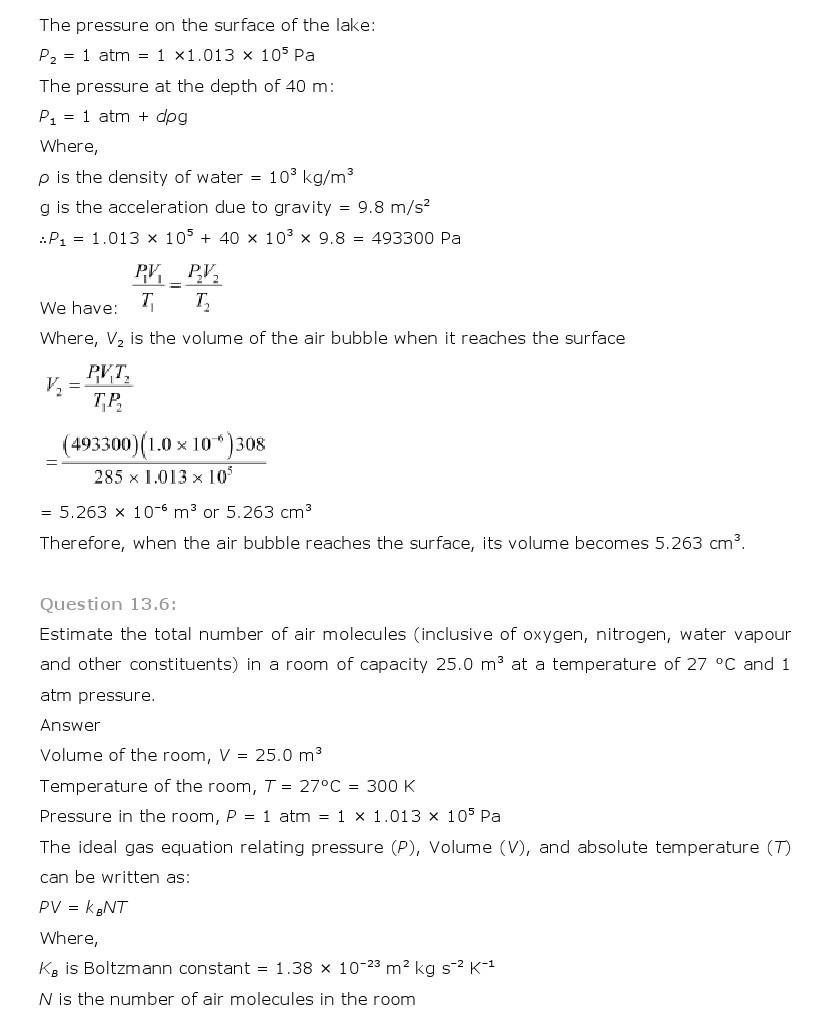 11th, Physics, Kinetic Theory 6