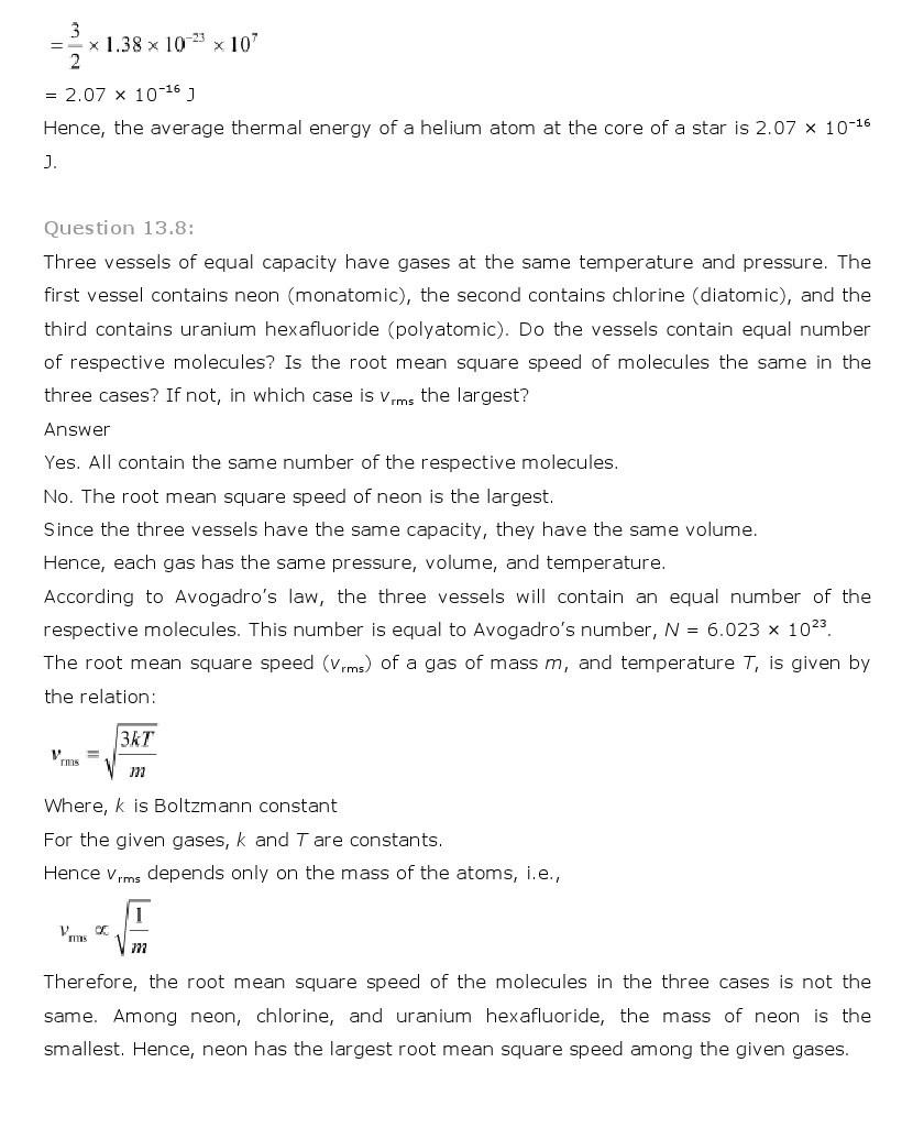 11th, Physics, Kinetic Theory 8