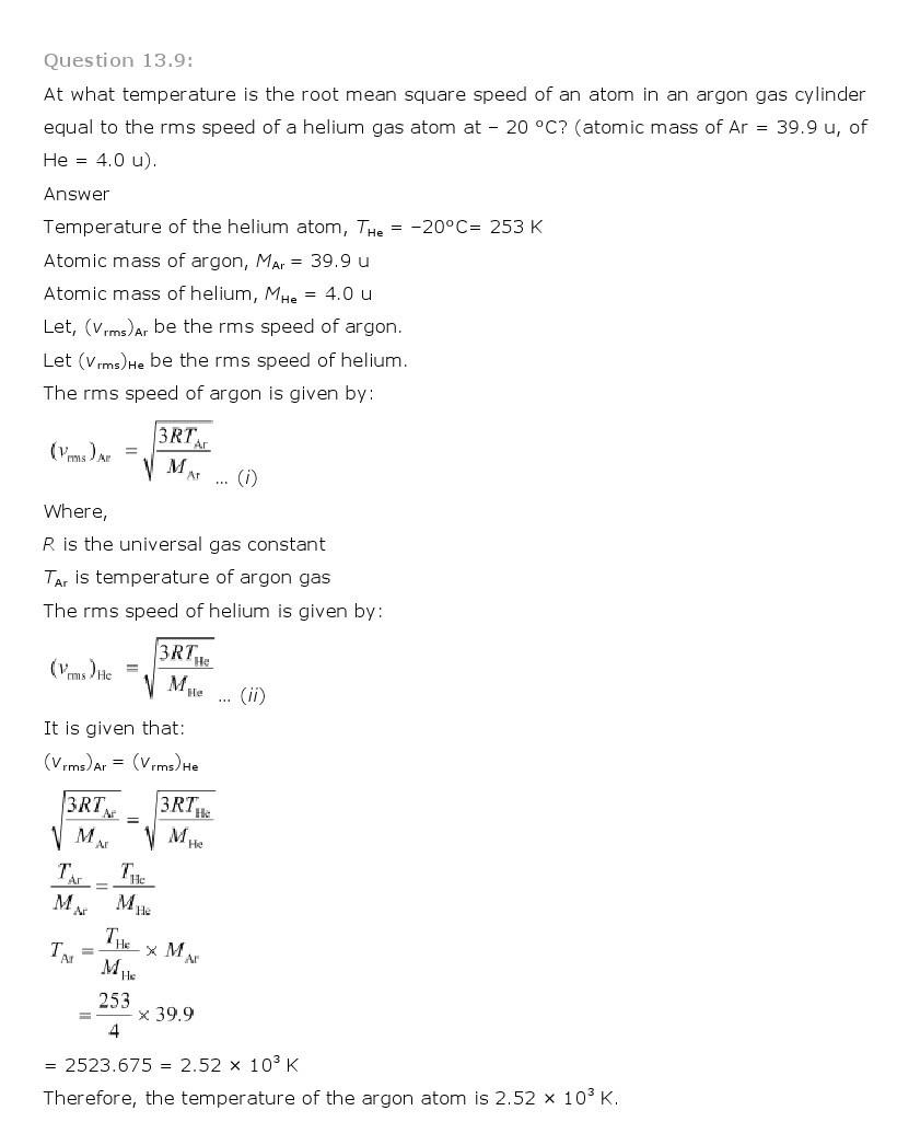 11th, Physics, Kinetic Theory 9