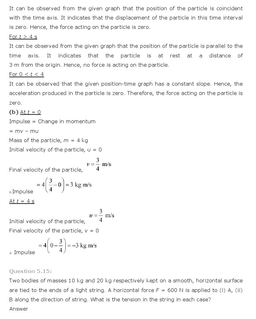 11th, Physics, Laws of motion 13