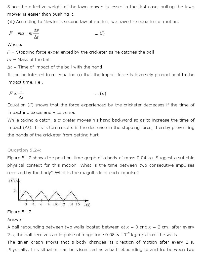 11th, Physics, Laws of motion 22