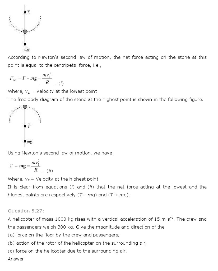 11th, Physics, Laws of motion 25